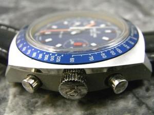 ブライトリング スプリント 70年代 特殊ケース仕様 2レジスター手巻きクロノグラフ デッドストック美品:画像3