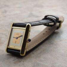 カルティエ VINTAGE CARTIER ヴィンテージ must TANK マストタンク 手巻き SM 腕時計 アンティーク 箱 冊子付:画像1
