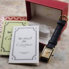 カルティエ VINTAGE CARTIER ヴィンテージ must TANK マストタンク 手巻き SM 腕時計 アンティーク 箱 冊子付:画像4
