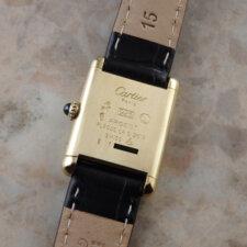 カルティエ VINTAGE CARTIER ヴィンテージ must TANK マストタンク 手巻き SM 腕時計 アンティーク 箱 冊子付:画像5
