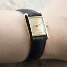 カルティエ VINTAGE CARTIER ヴィンテージ must TANK マストタンク 手巻き SM 腕時計 アンティーク 箱 冊子付:画像6