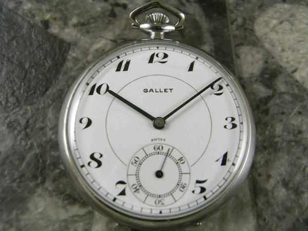 ギャレット・GALLET 懐中時計 エクセルシオパーク 琺瑯文字盤 希少