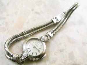 ジラール・ペルゴ レディースサイズ アンティーク  宝飾時計 18Kホワイトゴールド無垢ケース:画像1