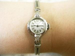 ジラール・ペルゴ レディースサイズ アンティーク  宝飾時計 18Kホワイトゴールド無垢ケース:画像3