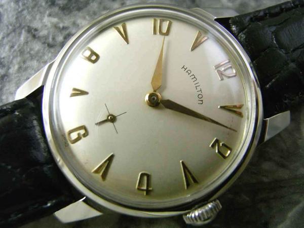 new style d24cb 7fcf8 ハミルトン・HAMILTON アンティーク時計 放射状アラビア スモセコ