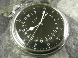 ハミルトン G.C.T 軍用懐中時計 24時間表示:画像1