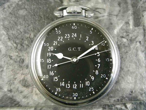 ハミルトン G.C.T 軍用懐中時計 24時間表示
