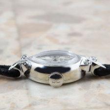 LeCoultre/ルクルト レディース アンティークウォッチ 14KWG/14金無垢 ダイヤ カットガラス:画像2