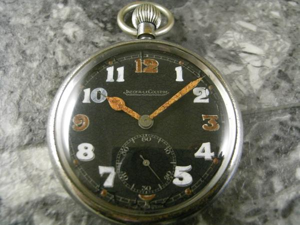 ジャガールクルト 懐中時計 ミリタリー コブラハンド スモセコ