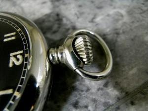 ミネルバ 1950年代 ミリタリー 懐中時計 ミラーダイアル MINERVA:画像3