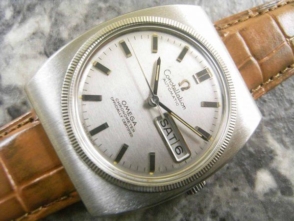 オメガ アンティーク コンステレーション ホワイトゴールドベゼル 1969年式 ギャランティ付属