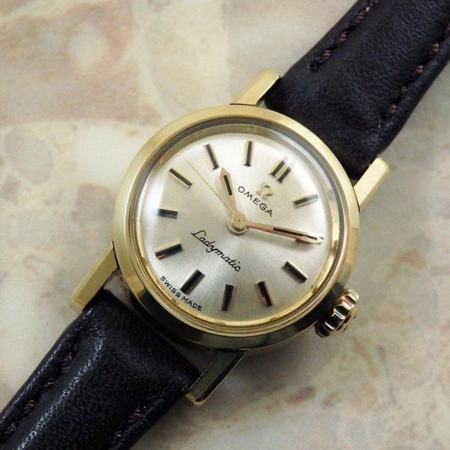 OMEGA Ladymatic アンティーク 腕時計 18KYG 金無垢