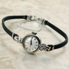 OMEGA オメガ・14KWG/14金ホワイトゴールド無垢 6Pダイヤ レディース 腕時計:画像1