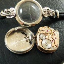 OMEGA オメガ・14KWG/14金ホワイトゴールド無垢 6Pダイヤ レディース 腕時計:画像5