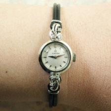 OMEGA オメガ・14KWG/14金ホワイトゴールド無垢 6Pダイヤ レディース 腕時計:画像6