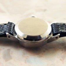 OMEGA/オメガ 18金無垢/18KWG レディース時計 カットガラス シルバーダイヤル 手巻き:画像3