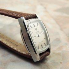 オメガ レディース トノーケース シルバーダイアル アンティーク腕時計:画像3