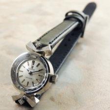 オメガ 14KWG/14金無垢 ダイヤ レディースウォッチ カットガラス 希少タイプ:画像1