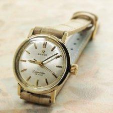 オメガ(OMEGA) シーマスター レディースウォッチ アンティーク 腕時計 金色ベゼル&ラグ ラウンドケース:画像1