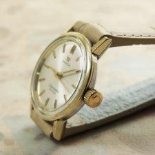 オメガ(OMEGA) シーマスター レディースウォッチ アンティーク 腕時計 金色ベゼル&ラグ ラウンドケース:画像2