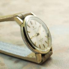 オメガ(OMEGA) シーマスター レディースウォッチ アンティーク 腕時計 金色ベゼル&ラグ ラウンドケース:画像3