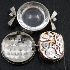 オメガ レディース アンティーク プラチナ ダイヤモンド:画像5