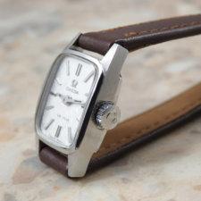 オメガ アンティーク時計 レディース シルバーモザイクダイヤル:画像2