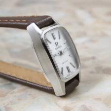 オメガ アンティーク時計 レディース シルバーモザイクダイヤル:画像3