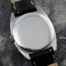 OMEGA アンティーク時計 黒文字盤 放射ローマン リーフハンド:画像4