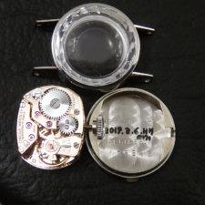 OMEGA レディース アンティーク カットガラス プラチナ Platinum:画像5