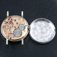 オメガ オリジナルシルバーダイヤル カットガラス ホワイトゴールド レディースウォッチ:画像5