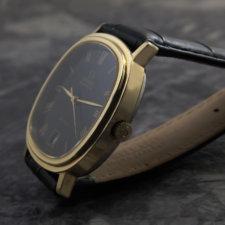OMEGA アンティークウォッチ 1970s 希少 ブラックダイヤル メンズ 6時デイト:画像2