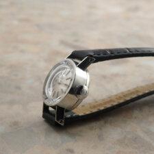 オメガ レディース アンティーク 時計 カットガラス プラチナ Platinum:画像2