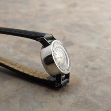 オメガ レディース アンティーク 時計 カットガラス プラチナ Platinum:画像3