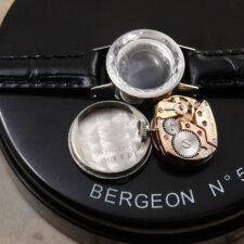 オメガ レディース アンティーク 時計 カットガラス プラチナ Platinum:画像5