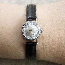 オメガ レディース アンティーク 時計 カットガラス プラチナ Platinum:画像6