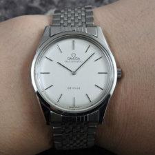 OMEGA 1970's アンティーク 腕時計 シルバーダイヤル 純正ステンレスブレス:画像6