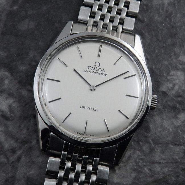 OMEGA 1970's アンティーク 腕時計 シルバーダイヤル 純正ステンレスブレス