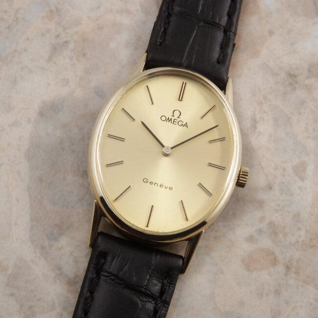 OMEGA 70's レディースアンティーク 腕時計 希少 オーバル ラージ ケース
