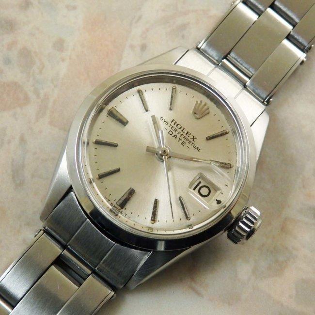 ロレックス ROLEX オイスターパーペチュアルデイト 6516 アンティーク 時計 レディース