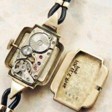 ロレックス プレシジョン アンティーク 時計 レディース 金無垢 カクテル:画像5