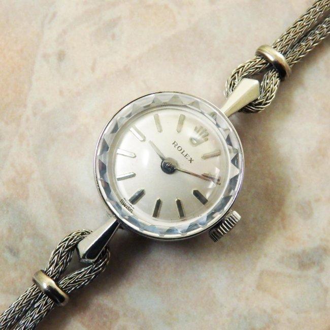 ロレックス ROLEX 14KWG アンティーク 時計 レディース