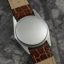 ロレックス オイスター デイト Ref.6466 ブラックミラーダイヤル ボーイズサイズ 手巻き:画像4