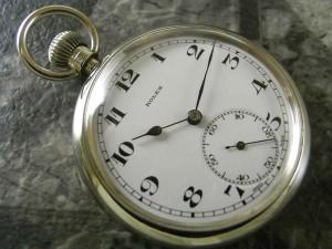 ロレックス 軍用デッキウォッチ 懐中時計 琺瑯 ミリタリーブロードアロー 希少:画像1