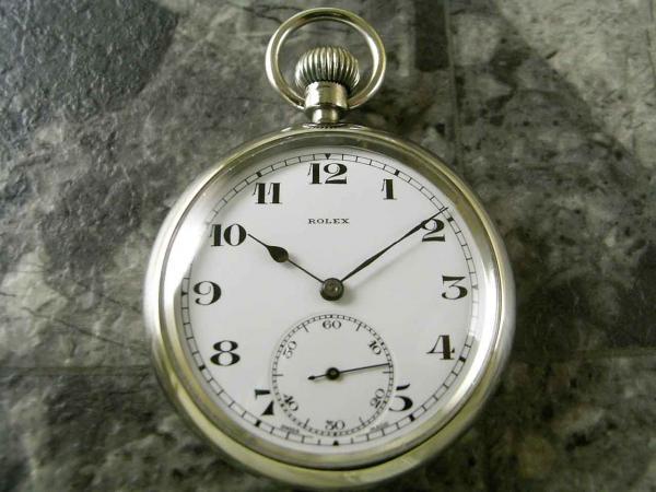 ロレックス 軍用デッキウォッチ 懐中時計 琺瑯 ミリタリーブロードアロー 希少