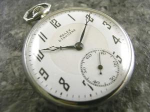 ロレックス・ROLEX 懐中時計 瀬戸文字盤 カテドラル針ブルースチール スモセコ:画像1