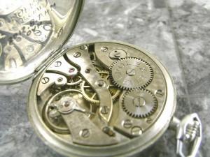 ロレックス・ROLEX 懐中時計 瀬戸文字盤 カテドラル針ブルースチール スモセコ:画像3