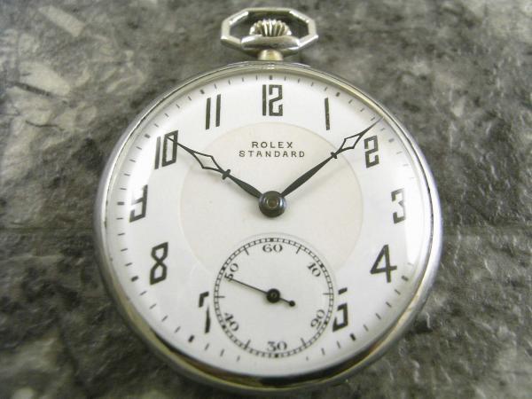 ロレックス・ROLEX 懐中時計 瀬戸文字盤 カテドラル針ブルースチール スモセコ