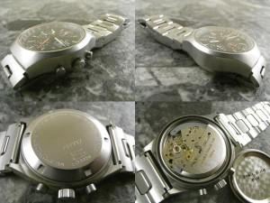 SINN 157 初期トリチウム AUTOMATIC表記 貴重Lemania 5100搭載 クロノグラフ ディスコンモデル ブレス付:画像2