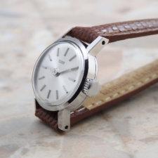 アンティーク チュードル レディース 腕時計 シルバーダイヤル アルファハンド:画像2